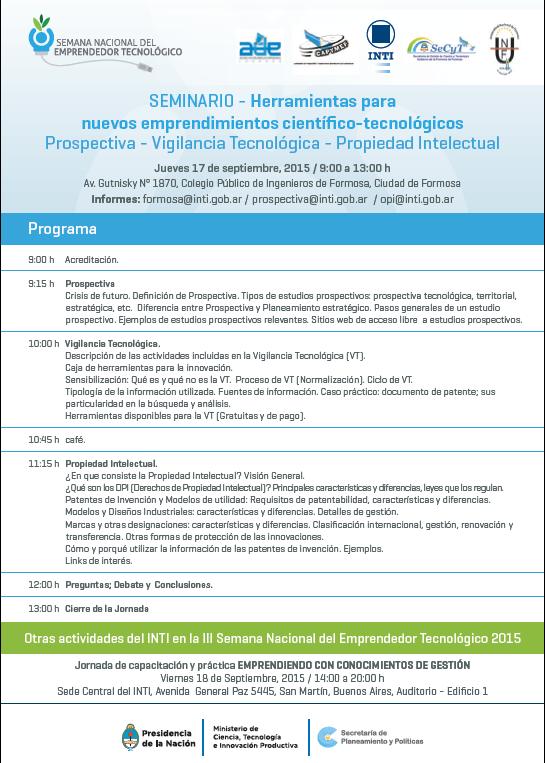 Invitacion al seminario del emprendedor tecnol gico para for Concurso docentes exterior