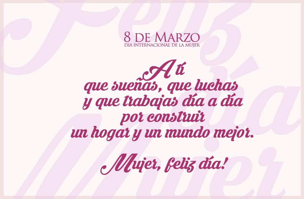 Feliz Dia Internacional De La Mujer Faen